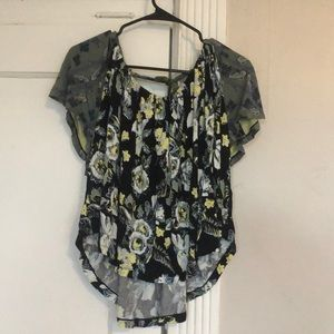 Free People top with keyhole back